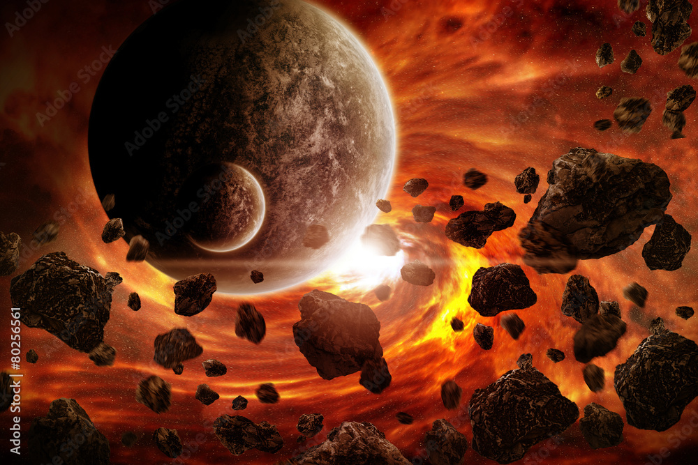Fototapeta Planet explosion apocalypse