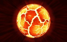 Scene Of Exploding Planet From Its Core, Illustration