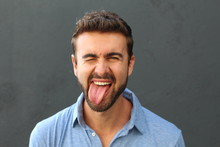 Man With Funny Facial Expression