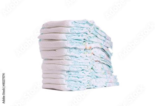Fotografiet  Stack of diapers