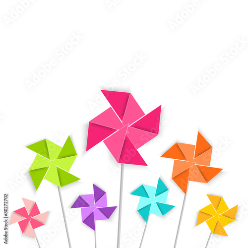 Fotografia, Obraz  Coloring cartoon pinwheel toy, vector EPS10.