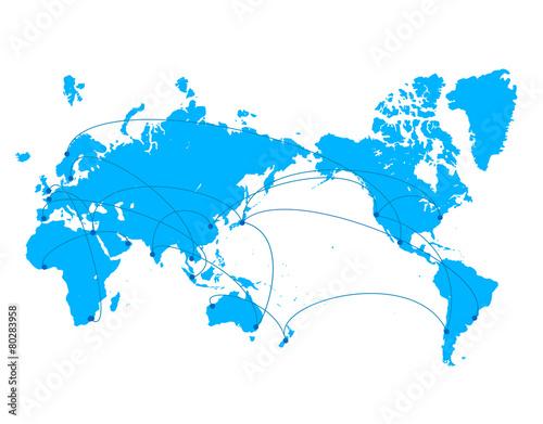 Tuinposter Wereldkaart 世界ビジネス