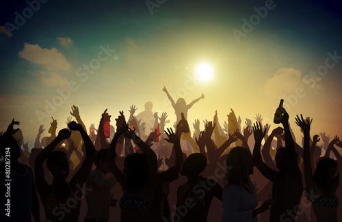 Beach Summer Music Concert Outdoors Recreational Pursuit Concept - 80287394