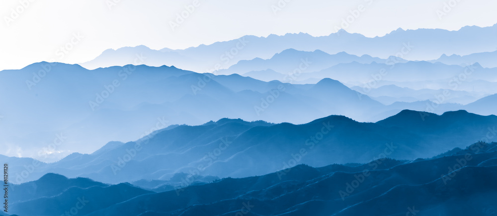 Fototapety, obrazy: Layers of mountain