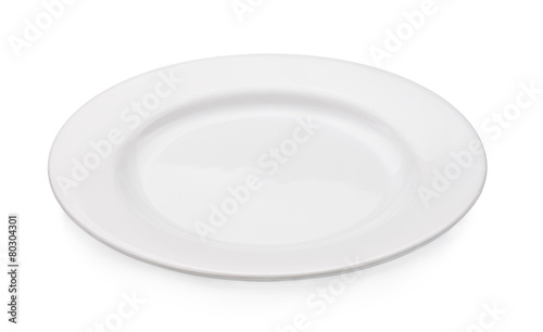Fotografie, Obraz  empty plate isolated on a white background