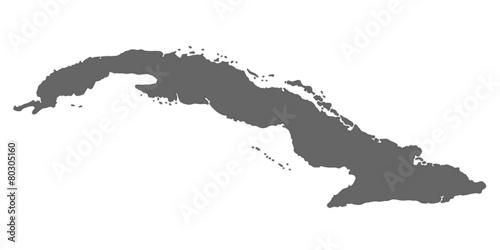 Kuba in Grau Wallpaper Mural