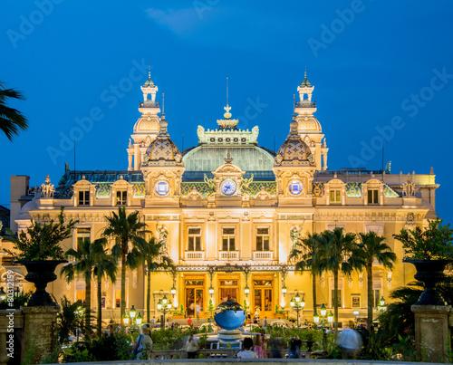 MONTE CARLO - JULY 4: Monte Carlo casino in Monaco on July 4, 20 Wall mural