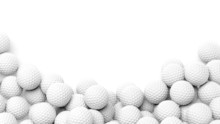 Golf Balls Pile With Copy-spac...