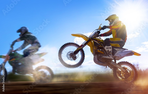 Photo  motocross rider