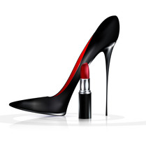 Black Shoe And Lipstick