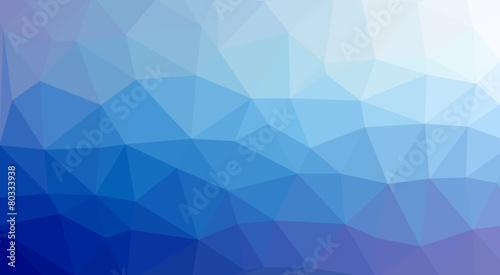 Photographie  low poly Hintergrund blau