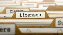 Licenses Concept With Word On ...