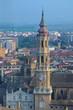 cityscape of spanish city zaragoza
