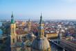 View over the cityscape of spanish city zaragoza