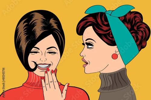 Wall Murals Comics pop art retro women in comics style that gossip