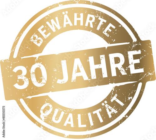 Siegel 30 Jahre Bewährte Qualität Fotomurales