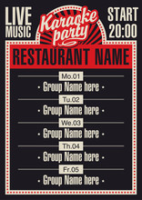 Poster For A Restaurant With Karaoke