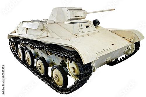 Poster  Soviet white light tank T-60 isolated