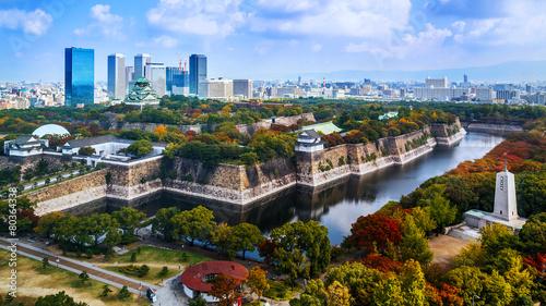 Naklejka premium Zamek w Osace