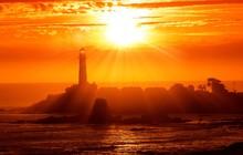 California Lighthouse Sunset