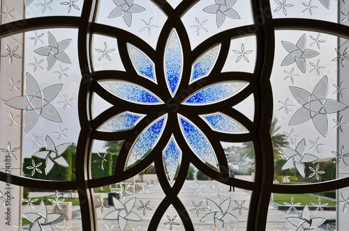 Obraz na plátne Grand Mosque ornamental Window