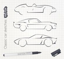 Vector Sports Car Sketches