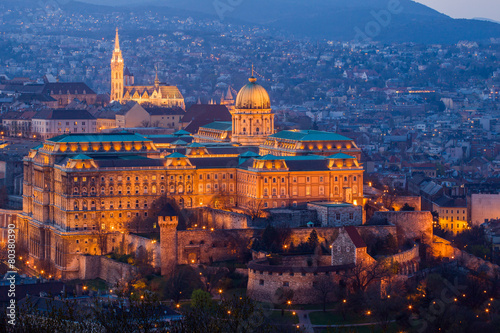 Spoed Foto op Canvas Zuid-Amerika land Budapest castle