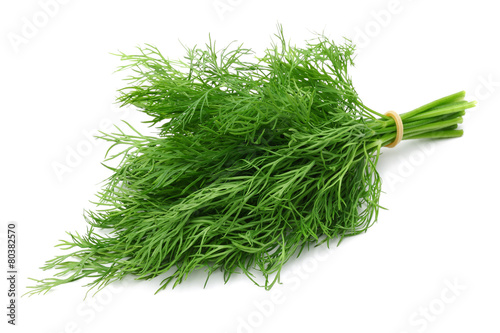 A bunch of fresh dill Fototapet