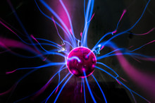 Plasma Ball  With Magenta-blue
