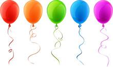 Set Of Realistic Celebration Balloons.