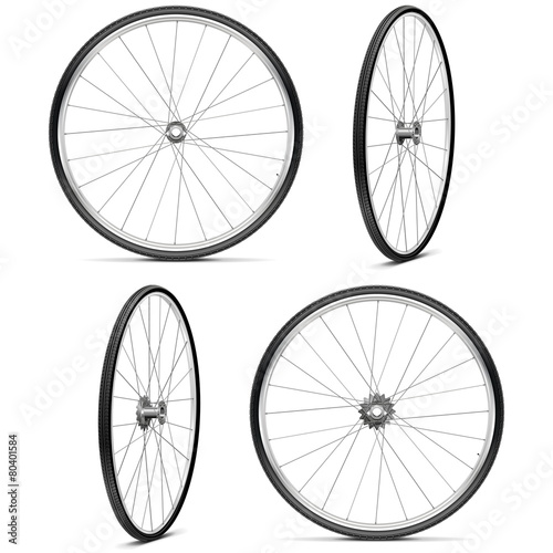 Fototapeta Vector Bicycle Wheels obraz