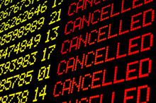 Cancelled Flights On Airport B...