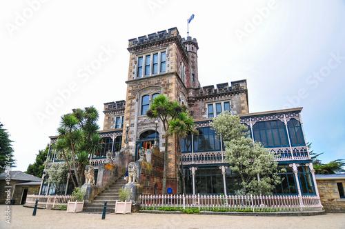Photo  castle and gardens on dunedin otago peninsula