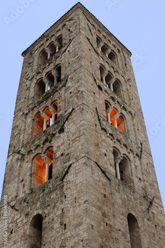 Anagni (Frosinone, Lazio, Italy) - Medieval cathedral and belfry Tablou Canvas