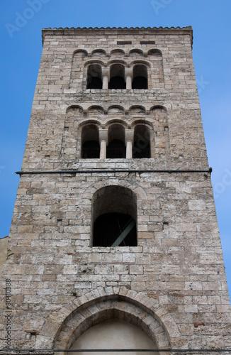 Fotografie, Obraz  Anagni (Frosinone, Lazio, Italy) - Medieval church belfry