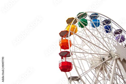 Ferris wheel on white