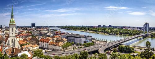Bratislava panorama Wallpaper Mural