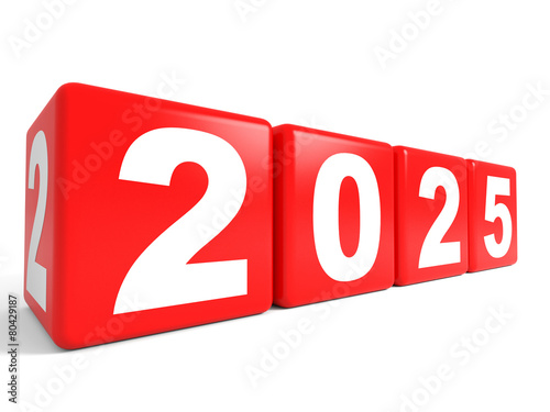 Poster  2025 New Year cubes.
