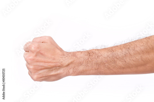 Foto  man's fist with hairy arm