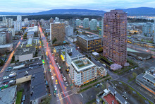 Vancouver BC Cityscape At Dusk
