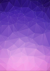 Violet polygonal design / abstract form book cover or web banner