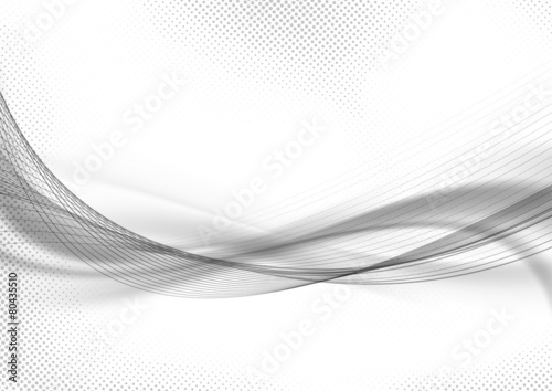 Halftone dot pattern swoosh layout abstract template