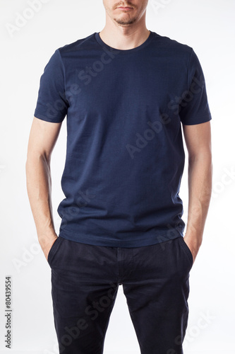 Dark Blue T Shirt Template Ready For Your Graphic Design