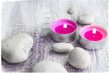 Spa concept stones aromatic candles