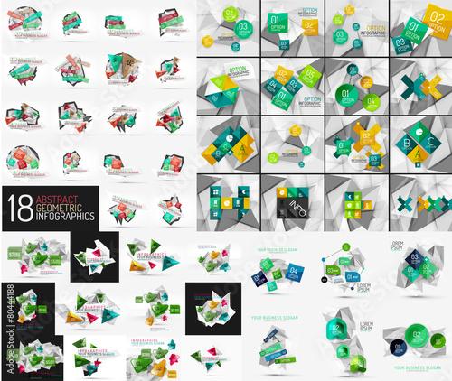 Mega set of infographic templates Wall mural