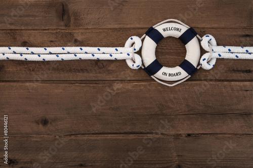 Fotografie, Obraz  Vítejte na palubě: Business Konzept Team Holz pozadí