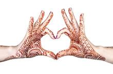 Heart Gesture With Henna