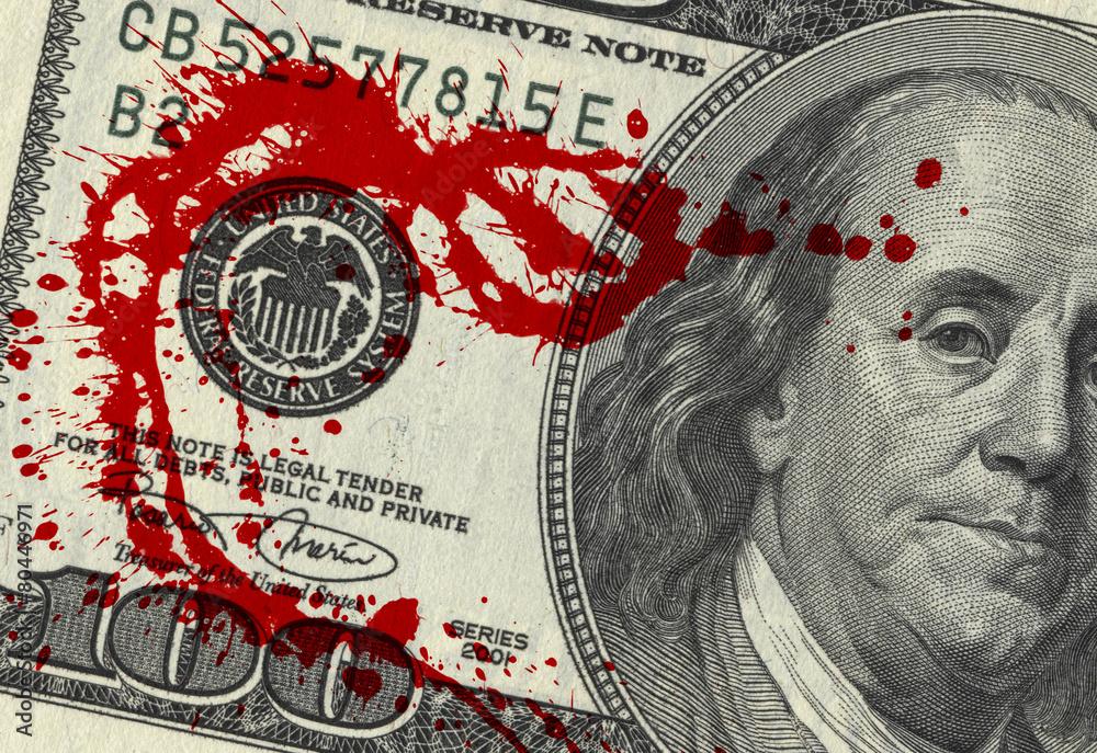 Fototapeta Blood Money