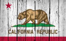 California State Flag Grunge B...