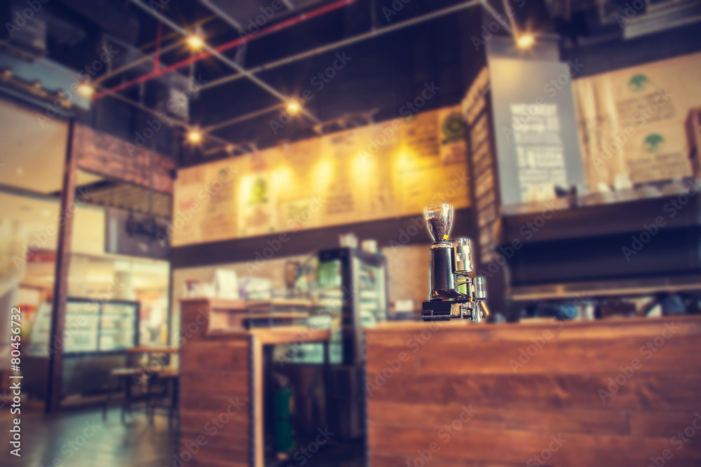 Blur coffee shop- vintage effect style pictures